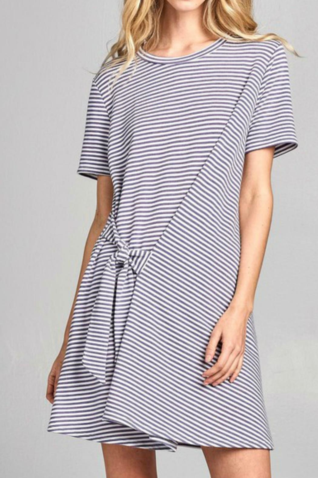 Nu Label Tie-Accent Striped Dress - Main Image