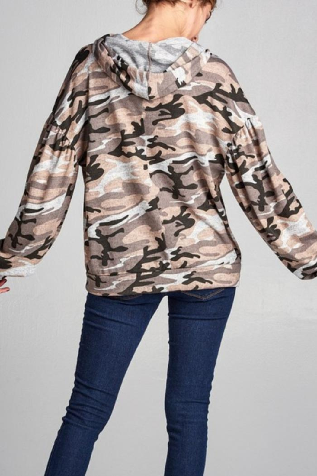 Nu Label Urban Camo Hoodie - Front Full Image