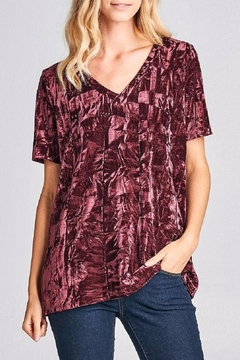 Shoptiques Product: Velour Oversize V-Neck