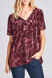Nu Label Velour Oversize V-Neck - Product Mini Image