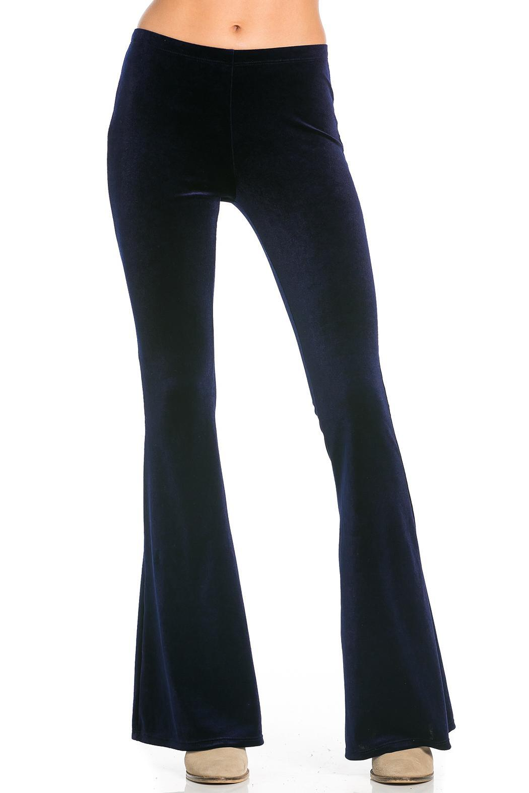 Nu Label Velvet Bell Bottom Pants From California By