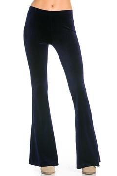 Nu Label Velvet Bell Bottom Pants - Product List Image