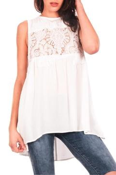 Shoptiques Product: White Lace Trimmed Top