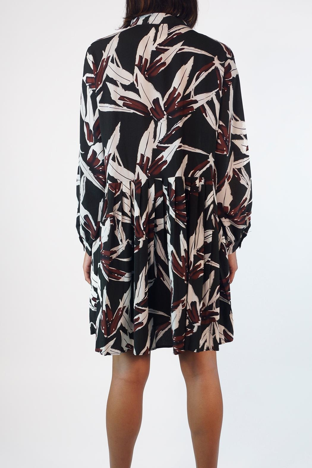 NU New York Autumn Pleated Dress - Front Full Image