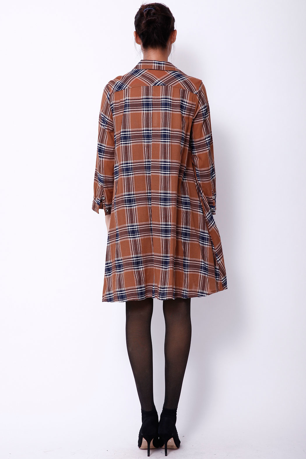 NU New York FALL SHIRTDRESS - Back Cropped Image