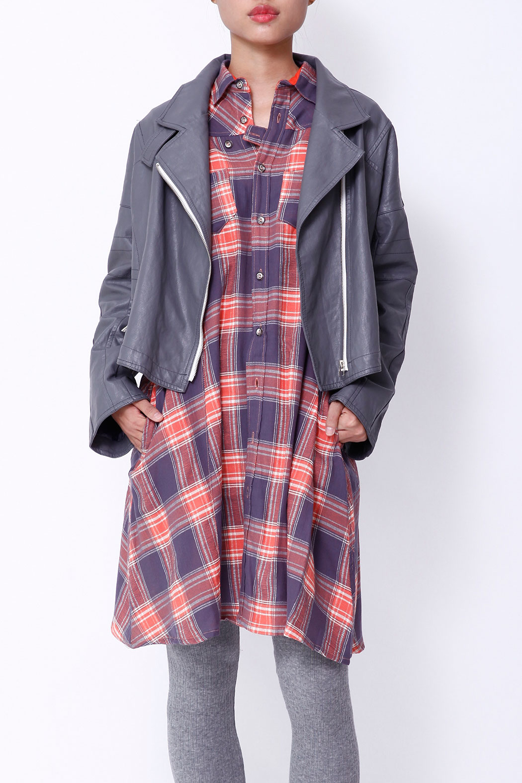 NU New York FALL SHIRTDRESS - Front Full Image