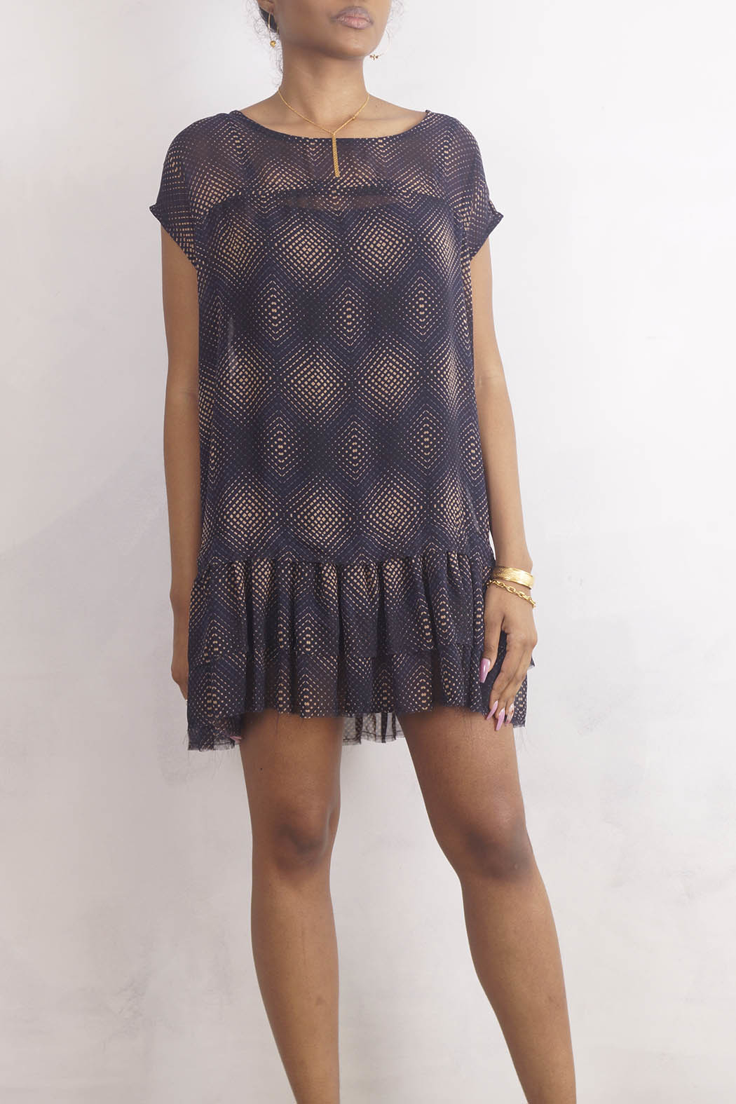 NU New York GEONYX DRESS - Front Cropped Image