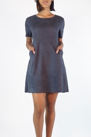 NU New York Glam Suedette Dress - Front cropped
