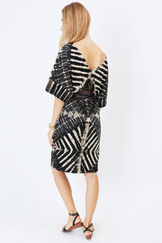 NU New York Ink & Paper Kimono Dress - Back cropped