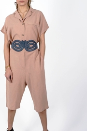 NU New York Phoebe Old Rose Jumpsuit - Front full body