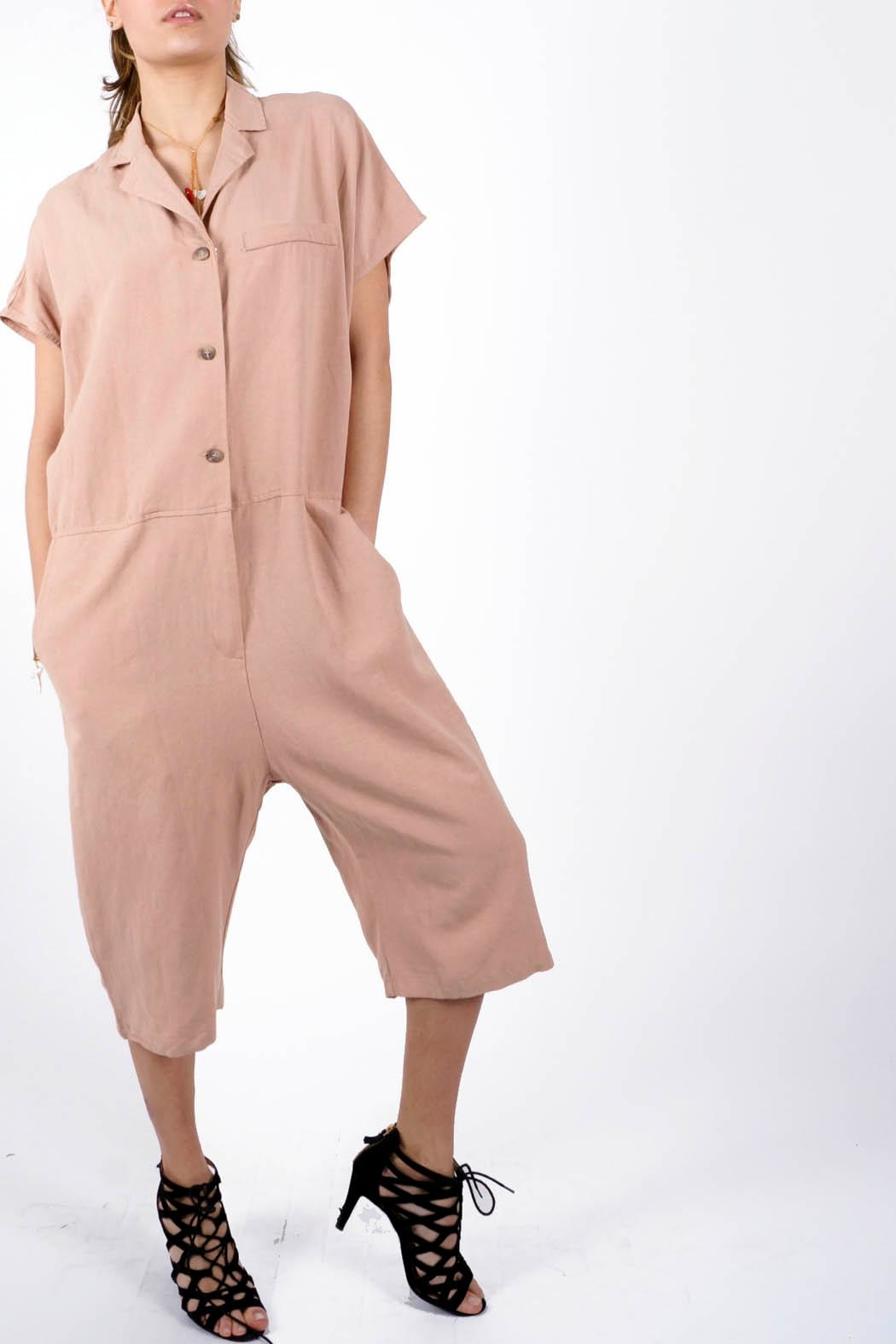NU New York Phoebe Old Rose Jumpsuit - Front Cropped Image