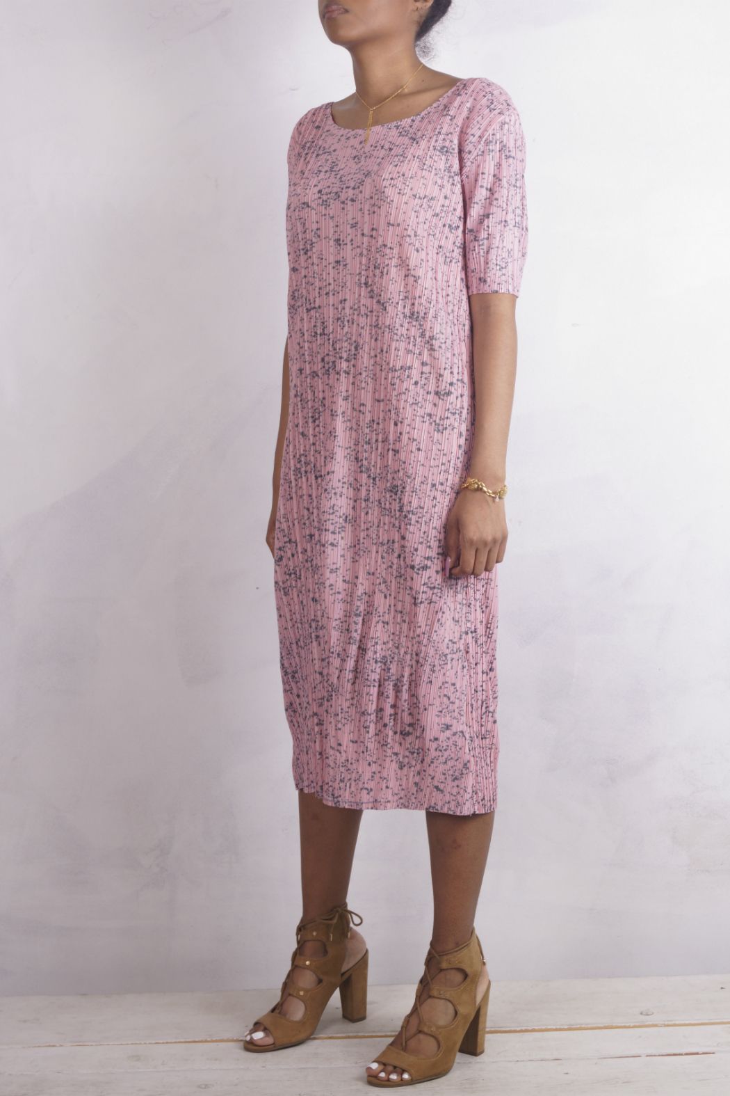NU New York PINK POLKA PLEATS - Side Cropped Image