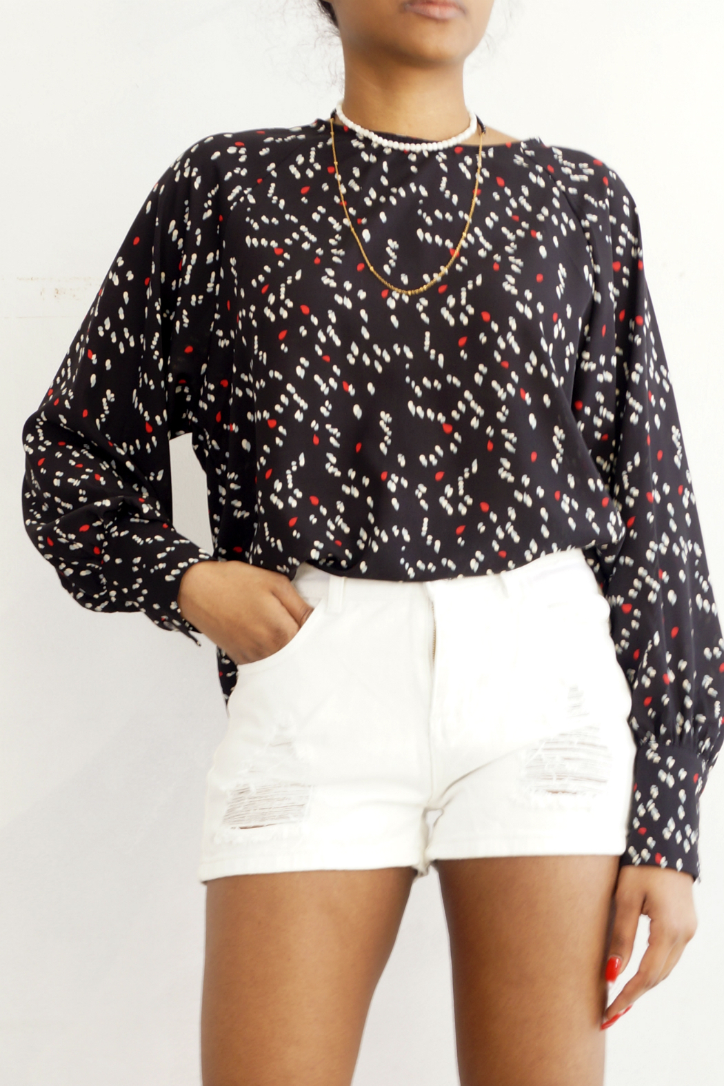 NU New York Sausalito Printed Blouse - Main Image