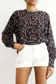 NU New York Sausalito Printed Blouse - Front cropped