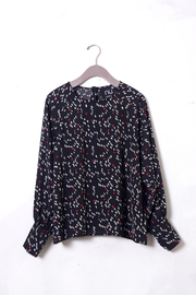 NU New York Sausalito Printed Blouse - Front full body