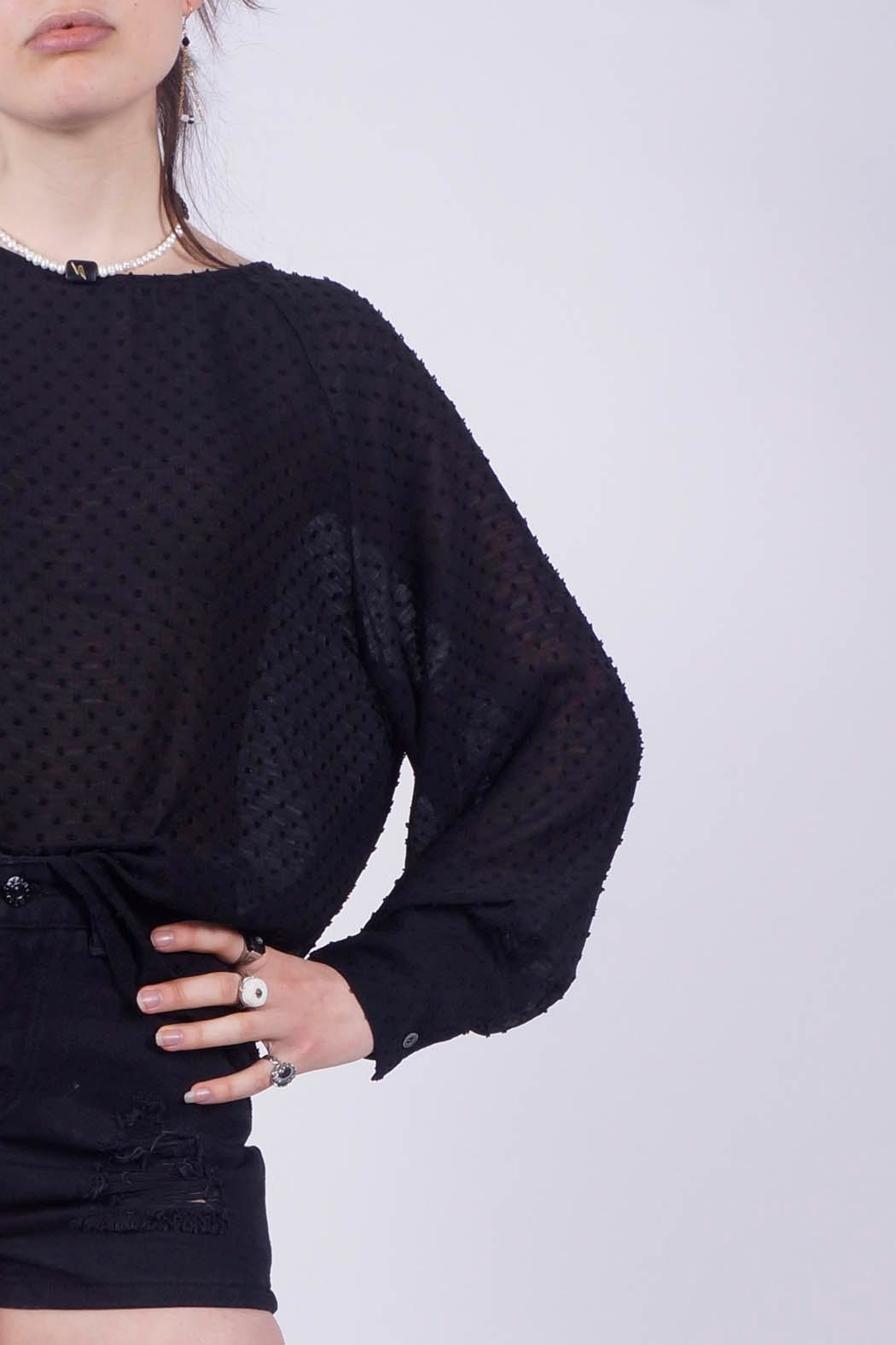 NU New York Sexy Dark Blouse - Back Cropped Image