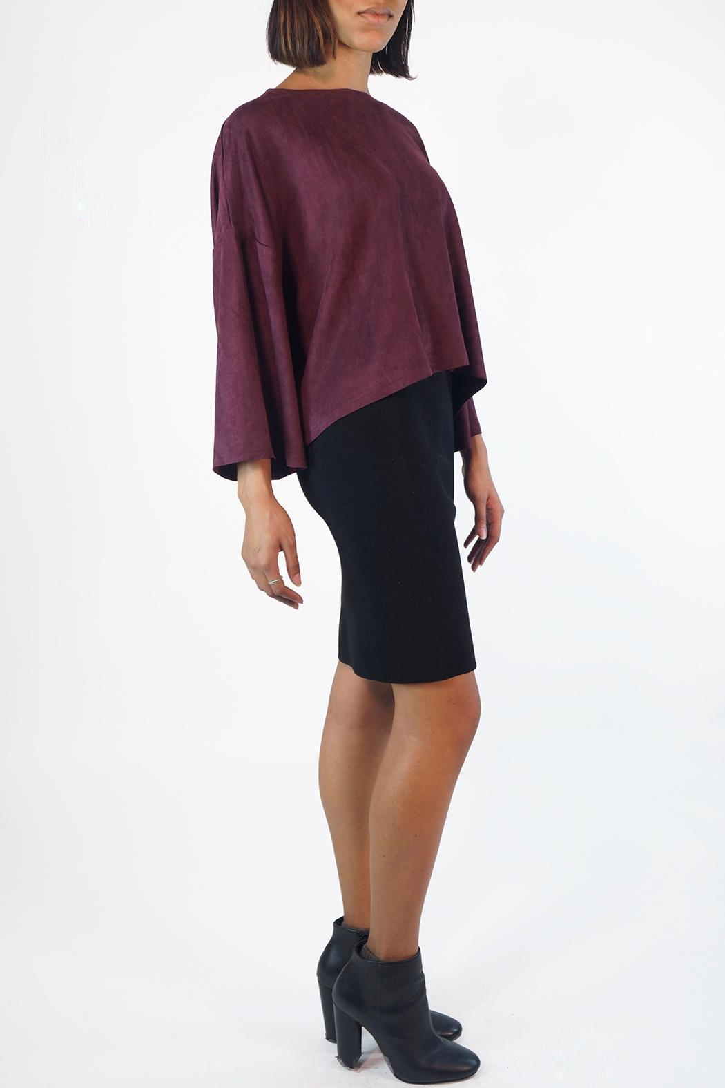NU New York Taffy Suedette Top - Front Full Image