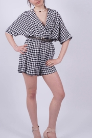 NU New York Vichy Checkered Jumpsuit - Front cropped