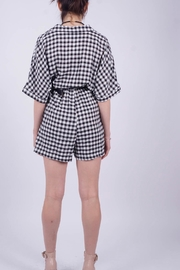 NU New York Vichy Checkered Jumpsuit - Front full body