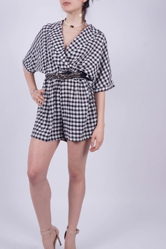 NU New York Vichy Checkered Jumpsuit - Alternate List Image