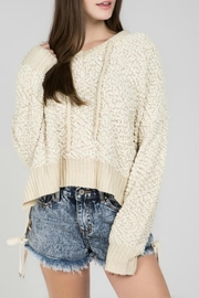 POL Nubby-Chenille Hoodie Sweater - Product Mini Image