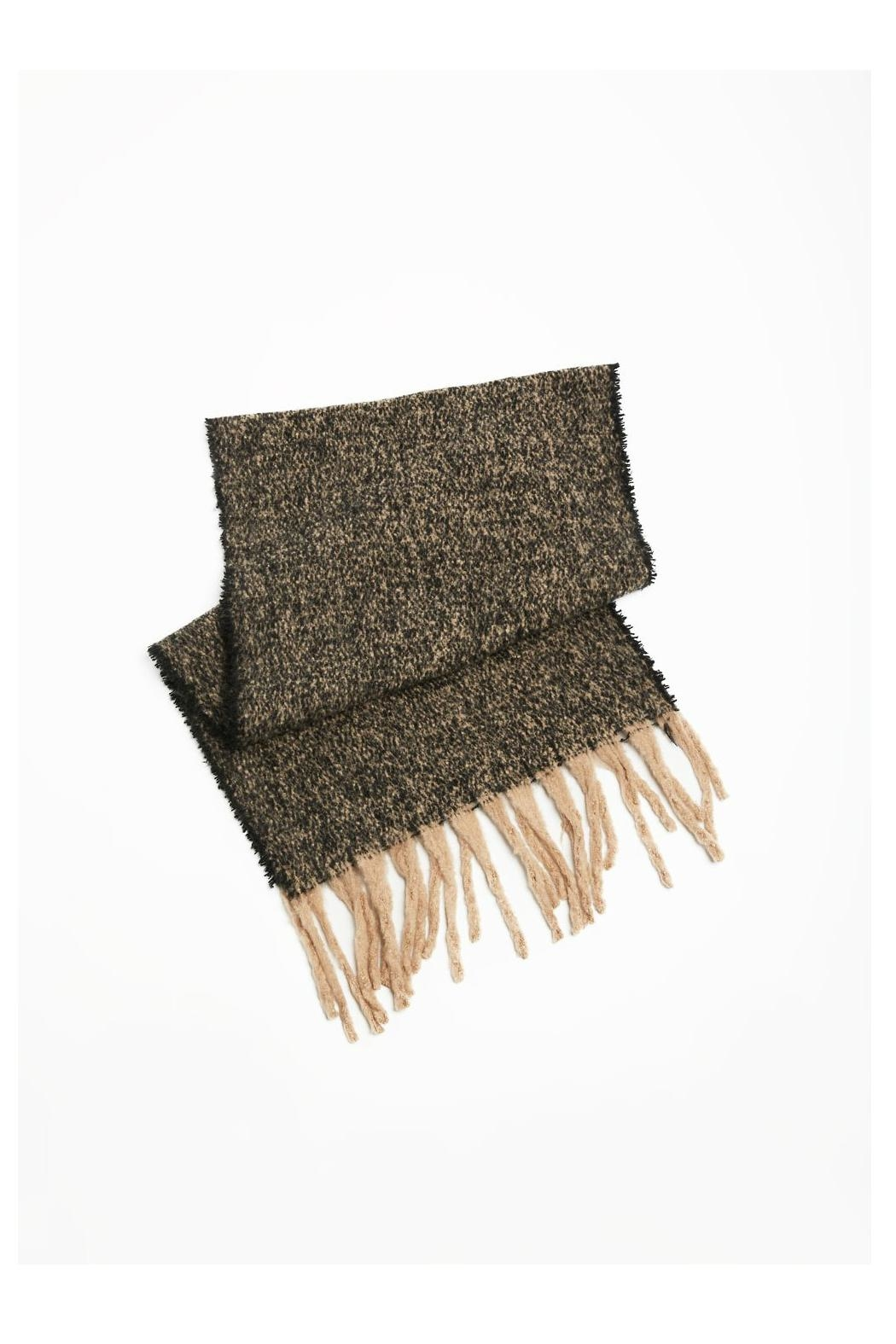 Look by M Nubby Fringe Scarf - Front Full Image