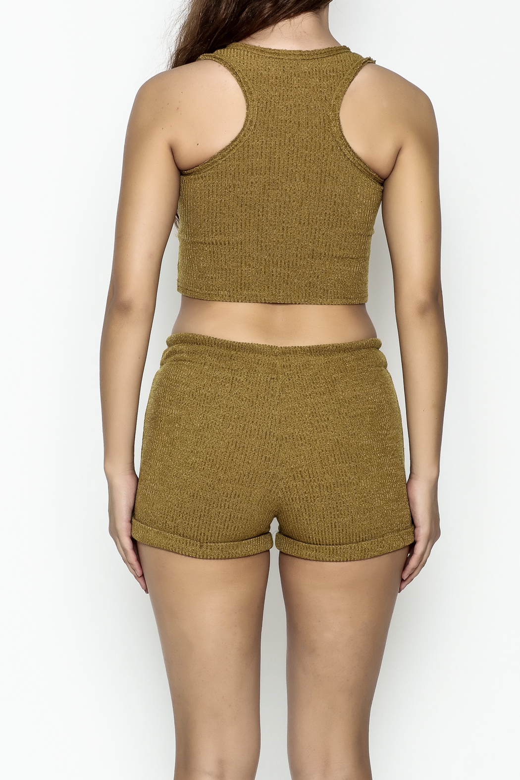 NUDE Bohemian Crop Top - Back Cropped Image