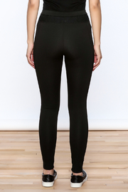 NUDE Casual Black Leggings - Back cropped