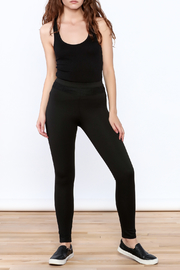 NUDE Casual Black Leggings - Front full body