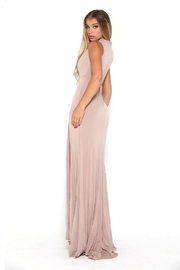 PORTIA AND SCARLETT Nude High Neck Long Semi-Formal Dress - Side cropped