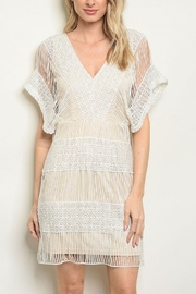 Lyn-Maree's  Nude & Ivory Lace Dress - Product Mini Image