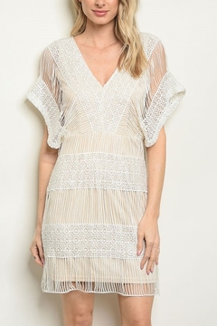 Lyn-Maree's  Nude & Ivory Lace Dress - Alternate List Image