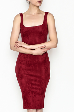 Shoptiques Product: Knit Suede Dress