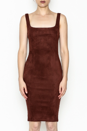 NUDE Knit Suede Dress - Front full body