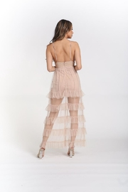 Rehab Nude Layered Dress - Front full body