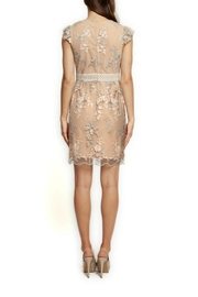 Black Tape Nude Mesh Embroidered - Front full body