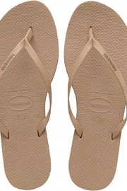 Havaianas Nude Metallic Flipflops - Product Mini Image