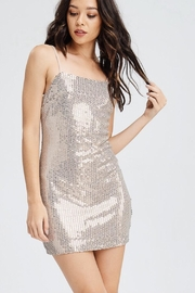 Emory Park Nude Sequin Dress - Front full body