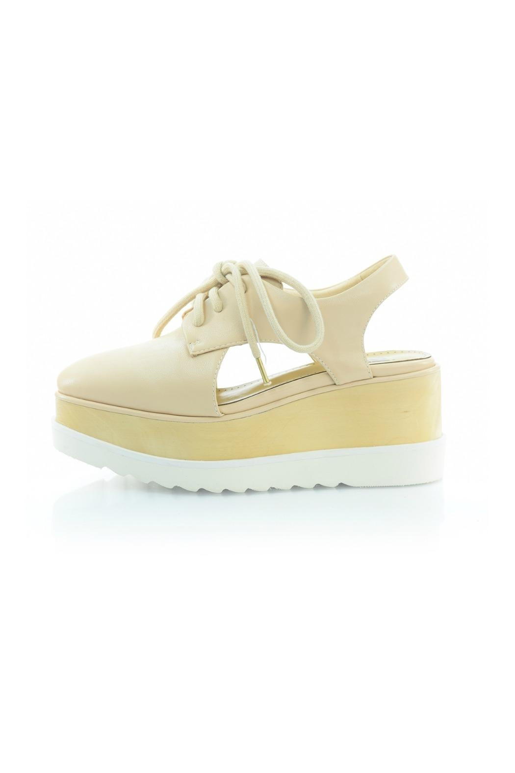 Bibi Lou Nude Wedge Sneaker - Front Cropped Image