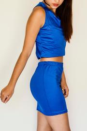 NUINABELOVE Royal Blue Crop Top - Front full body