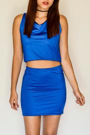 NUINABELOVE Royal Blue Crop Top - Product Mini Image