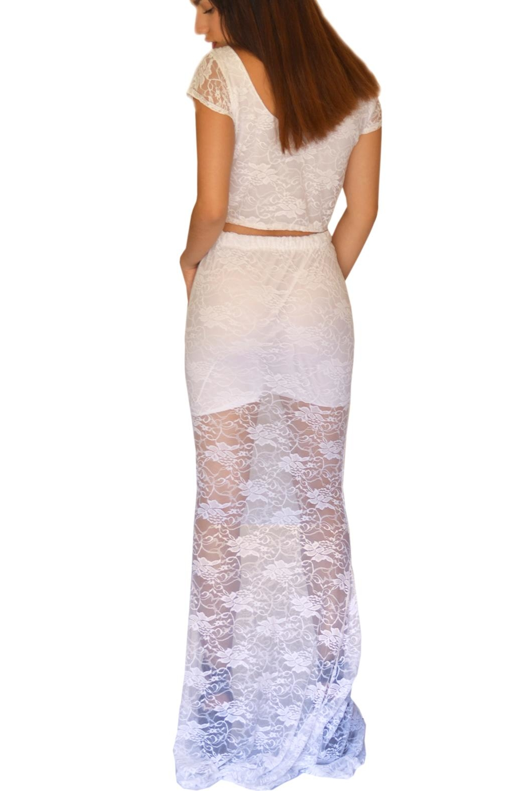 NUINABELOVE Mermaid Lace Skirt - Side Cropped Image