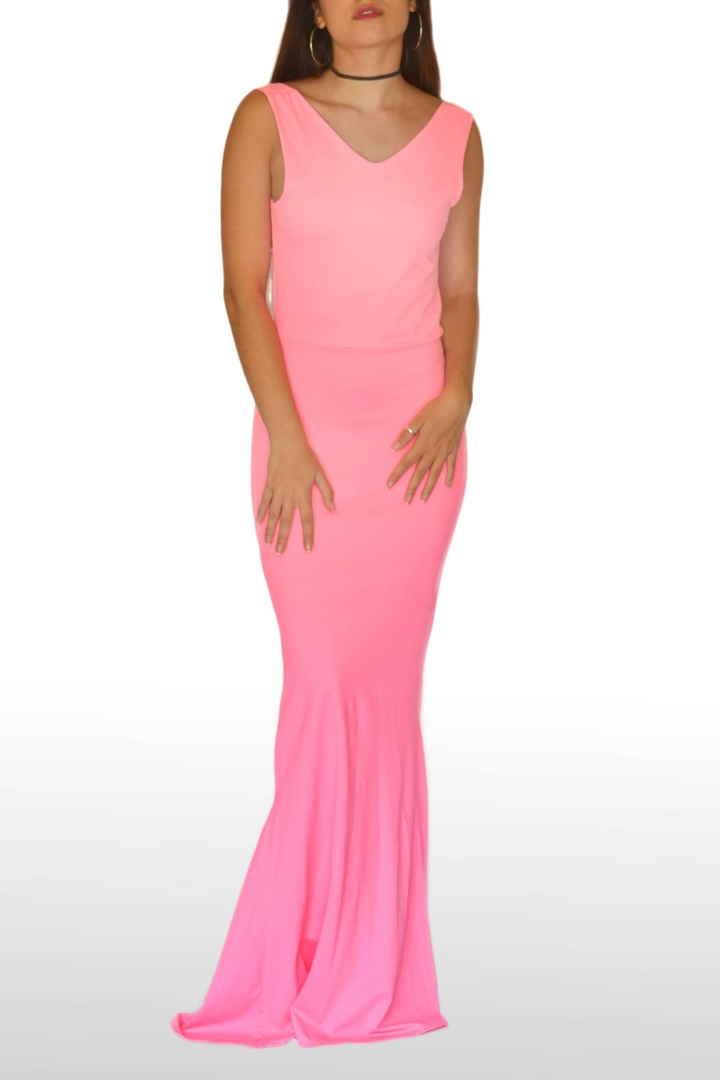 NUINABELOVE Pink Mermaid Dress - Front Cropped Image