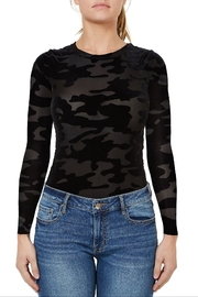Numero Denim Velvet Camo Bodysuit - Product Mini Image