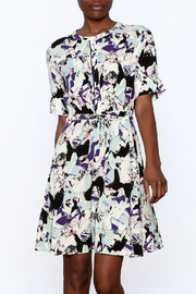 Numph Abstract Tie Dress - Product Mini Image