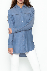 Numph Chambray Button Tunic - Product Mini Image