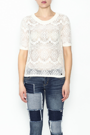 Numph Lace Sweater Shirt - Front full body
