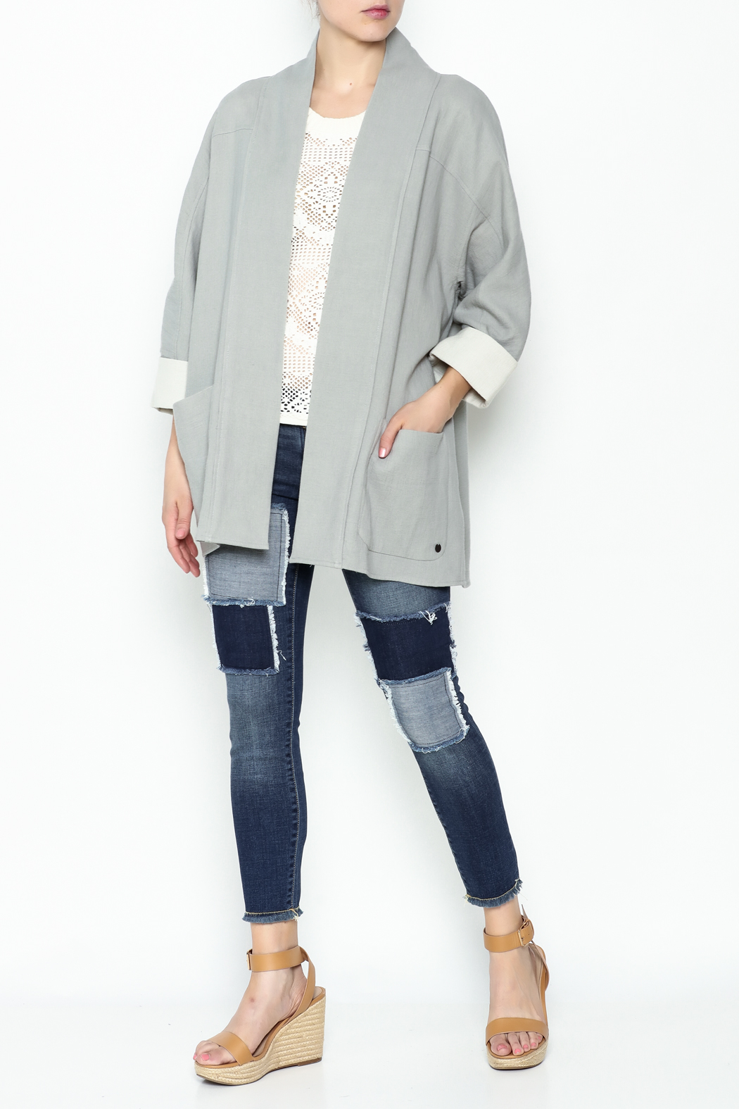 Numph Slouchy Pocket Blazer - Side Cropped Image