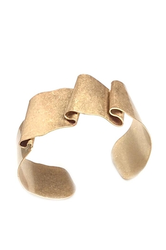NuraBella Folding Gold Metal Cuff - Alternate List Image