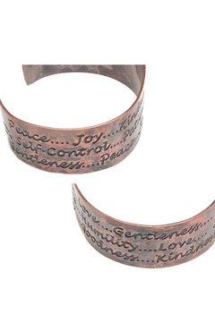 NuraBella Pure Copper Saying Cuff - Alternate List Image